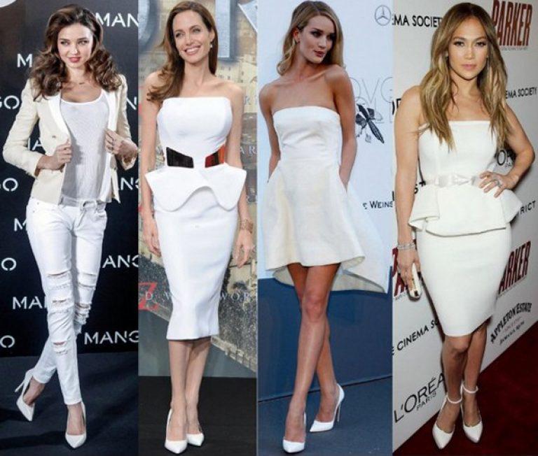 какие туфли подобрать к белому платью фото большого