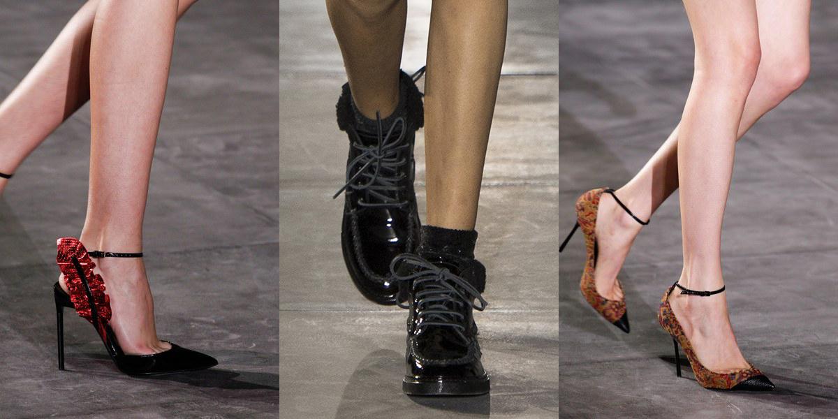 5554c0904 Saint Laurent обувь весна-лето 2017 на Парижской Неделе моды — это о сути  Ива Сен-Лорана – провокационная женственность смешанная с упрямой  мужественностью.