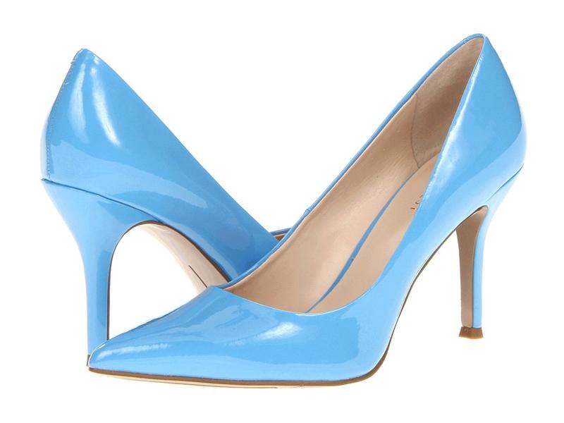 Голубые туфли лодочки