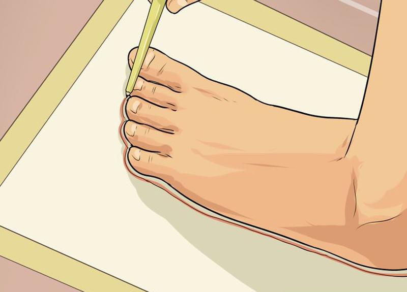 Обрисовываем ногу
