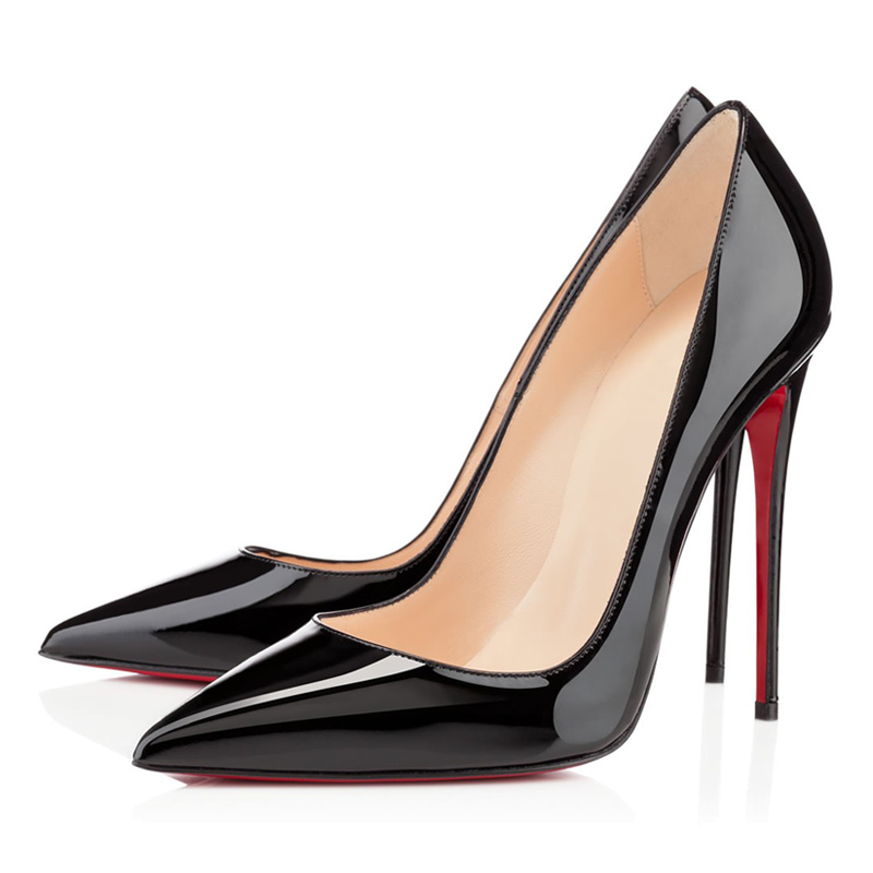 Черные туфли лодочки на шпильке