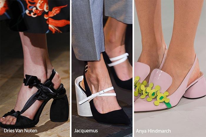 Закругленные каблуки. Мода вена-лето 2017