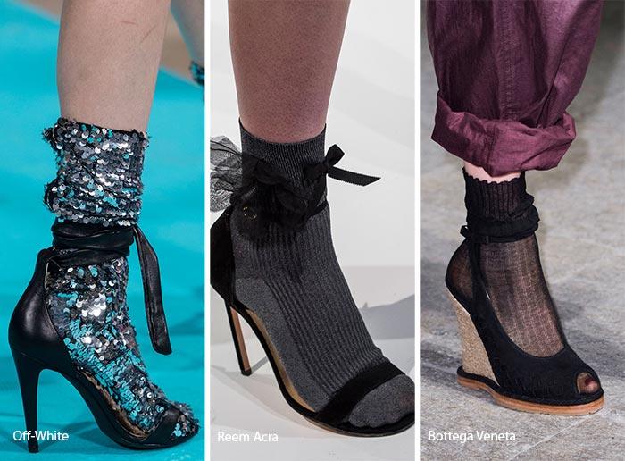туфли с носками. Мода весна-лето 2017
