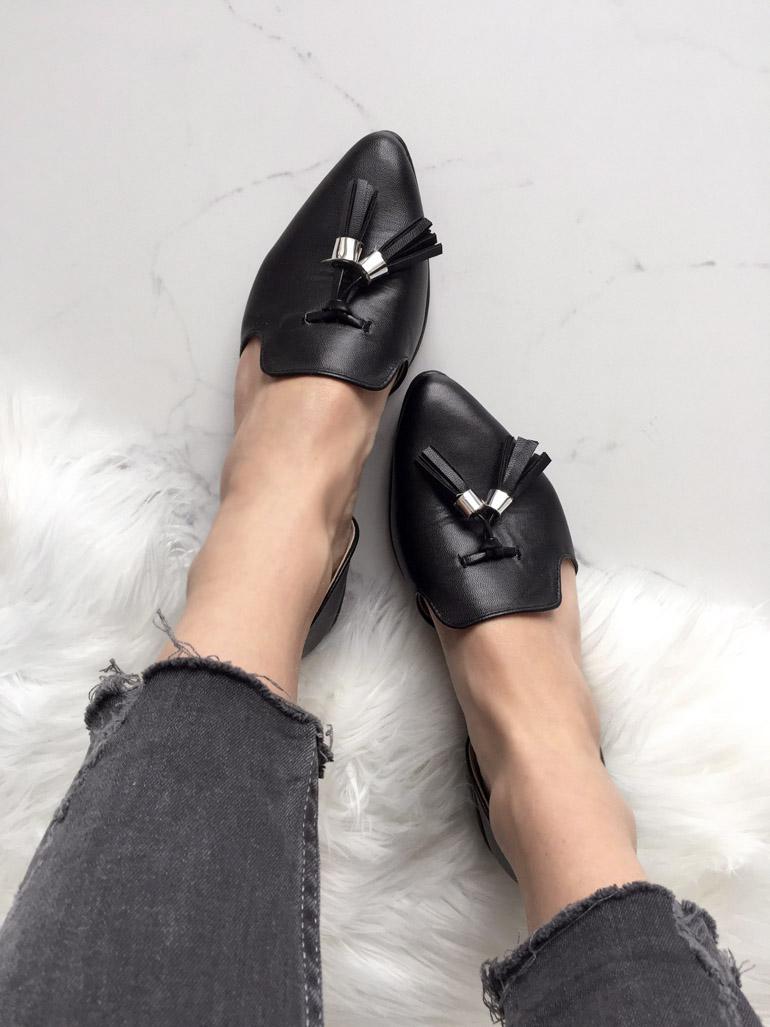 Черные мокасины от D'Orsay