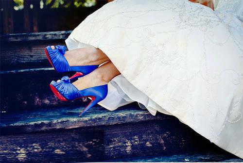 Синие лабутены на свадьбу