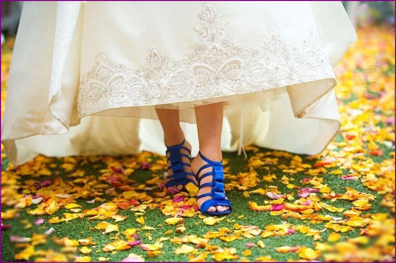 Синие женские туфли на свадьбу