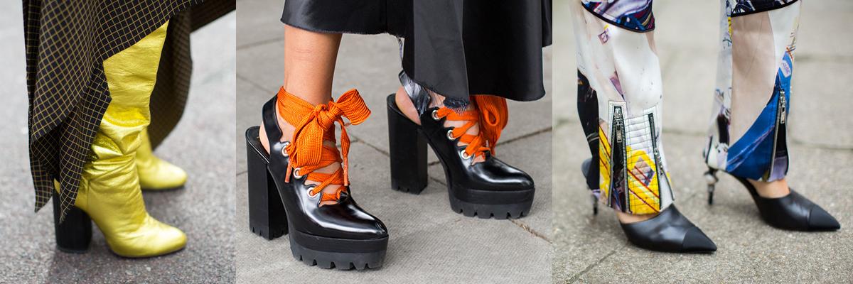 Уличная обувь на неделе моды в Лондоне весна-лето 2017