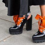 Туфли. Уличная мода. Неделя моды в Лондоне весна-лето 2017