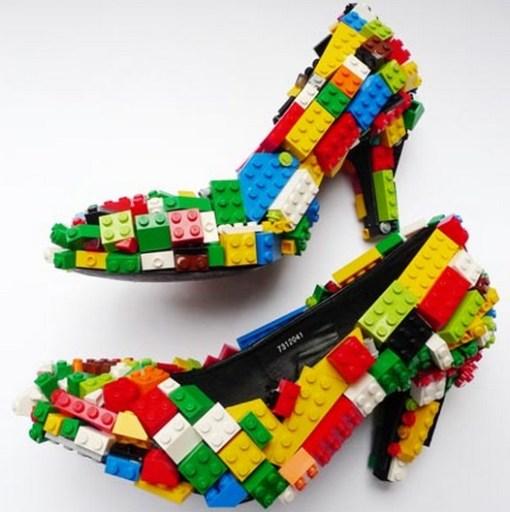 Туфли из лего необычные туфли