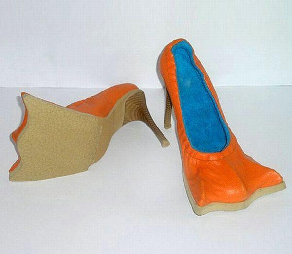Оранжевые страшные туфли