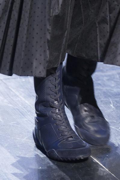 Черные женские ботинки от Кристиан Диор. Неделя моды в Париже. Осень-зима 2017- 2018