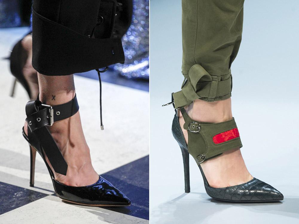 Черные туфли и туфли цвета хаки