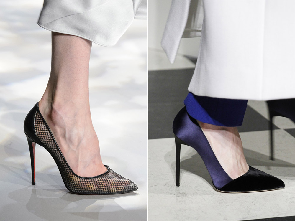 туфли-лодочки сеточкой и фиолетовые туфли-лодочки