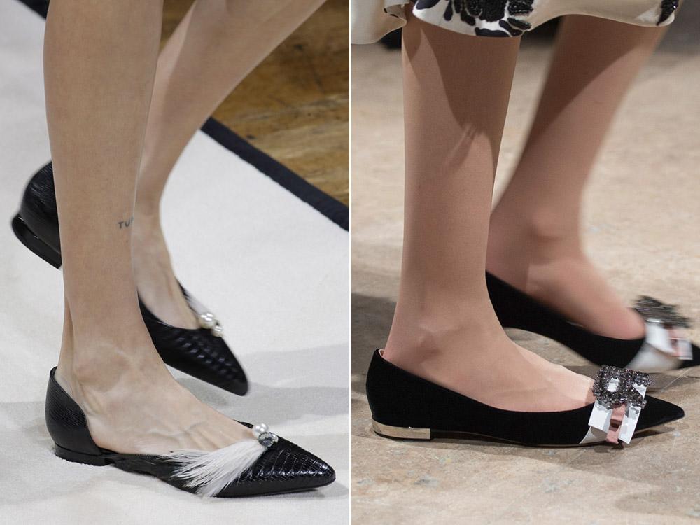 Туфли-лодочки без каблука