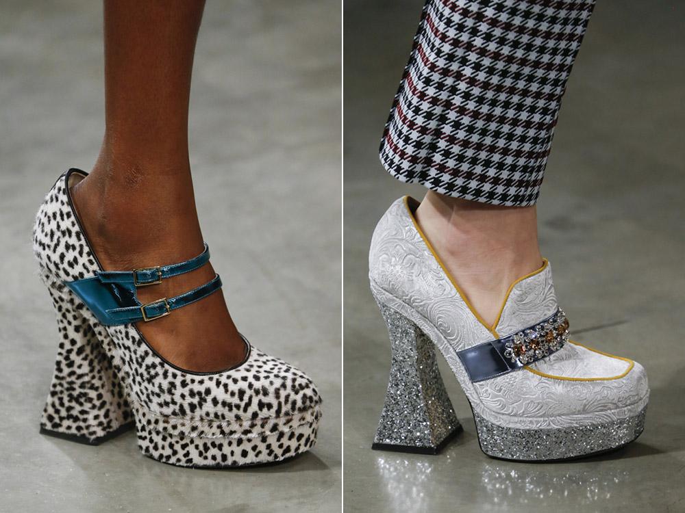 Туфли на платформе леопард и блестящие