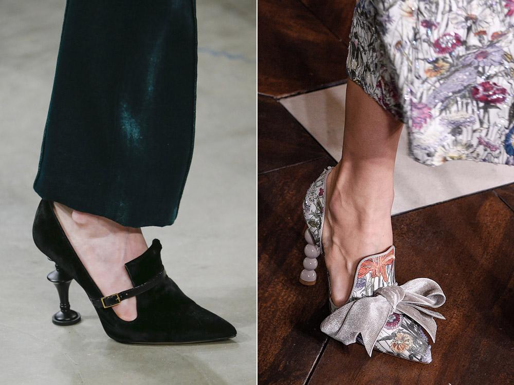 Туфли с фигурными каблуками