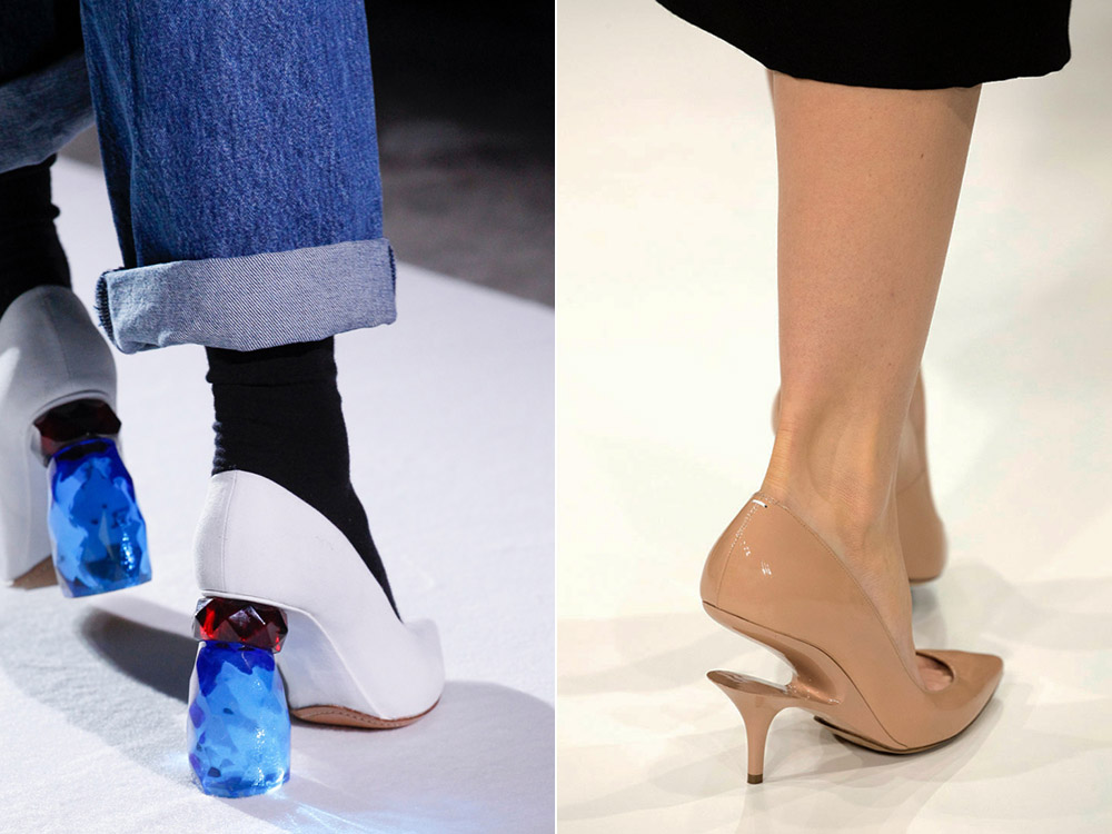 Туфли на фигурных каблуках