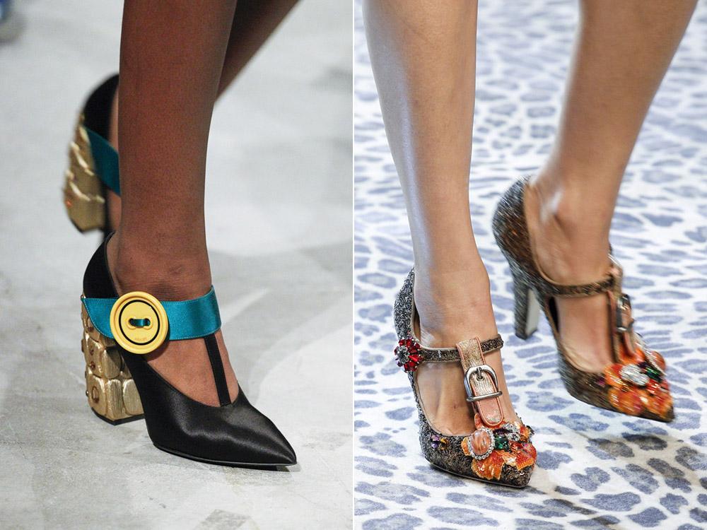 Туфли с декоративными ремешками