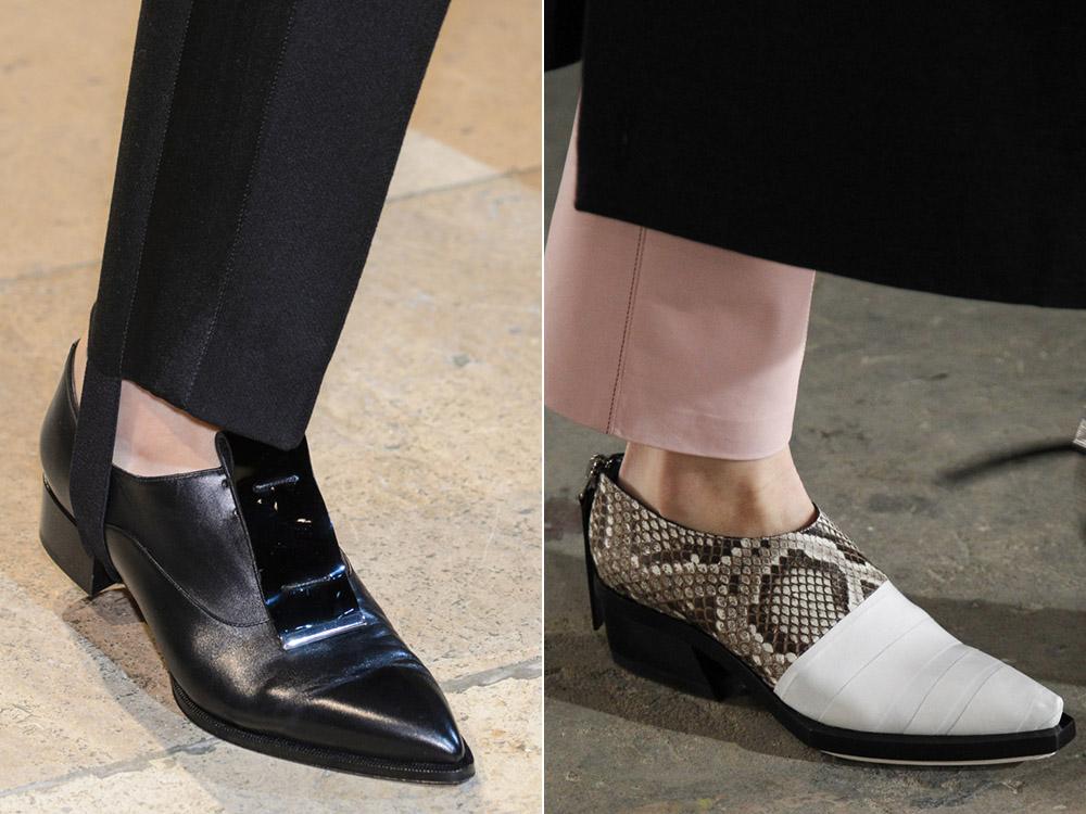 Черные женские туфли в мужском стиле