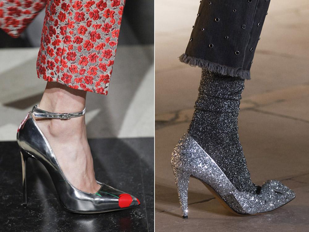 Туфли металлических оттенков