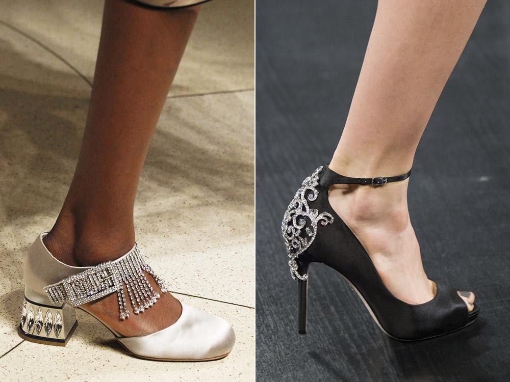 Туфли с декоративной отделкой
