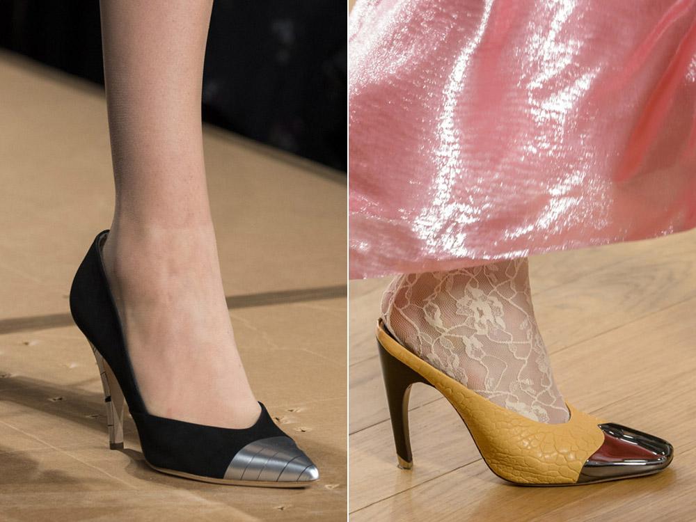 Туфли с металлическим носом