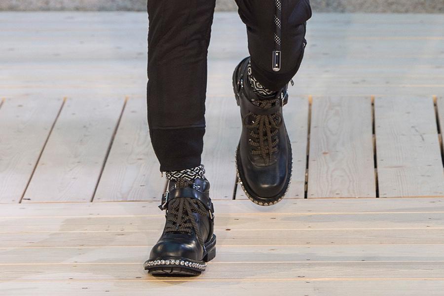 Черные мужские ботинки от Alexander McQueen