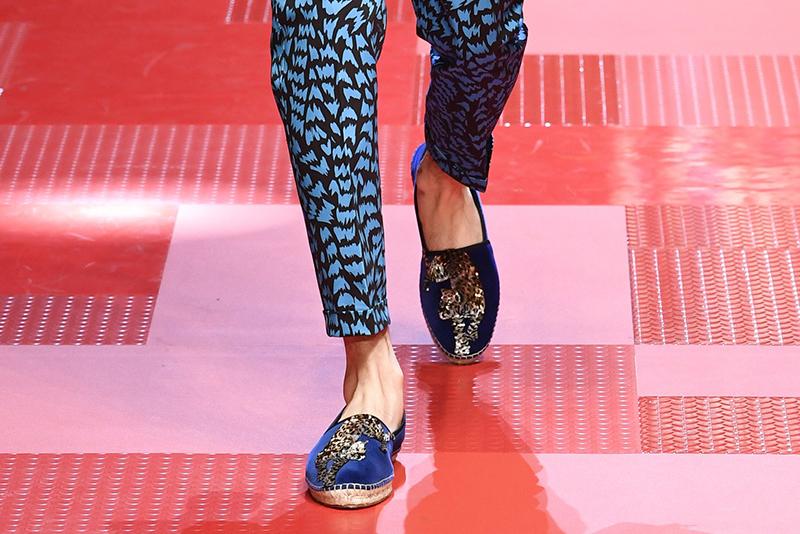 Синие мужские туфли от Dolce&Gabbana