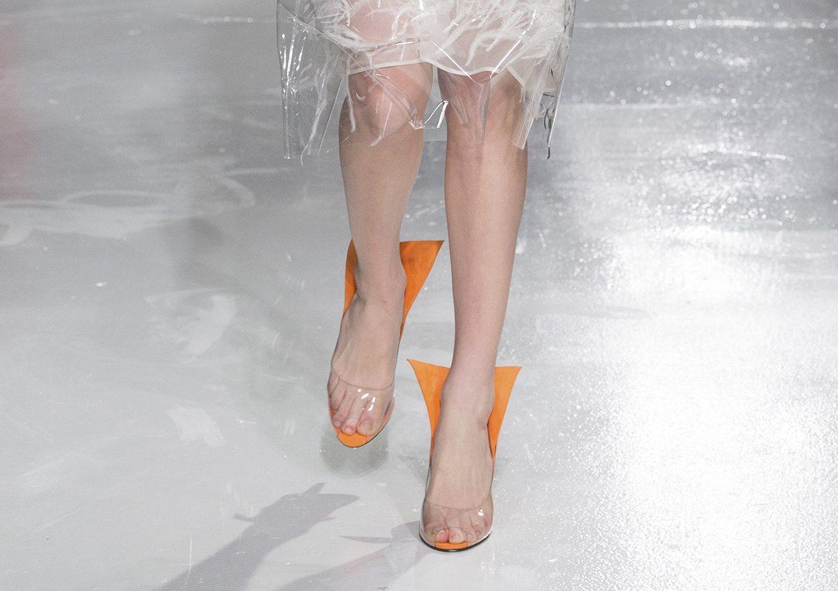 Прозрачные женские туфли от Calvin Klein