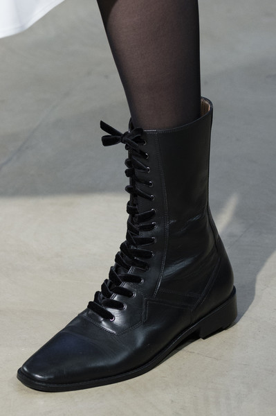 Черные женские ботинки от Carolina Herrera