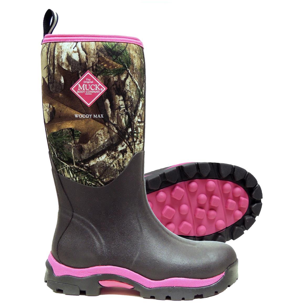 Черные женские резиновые сапоги с розовой подошвой