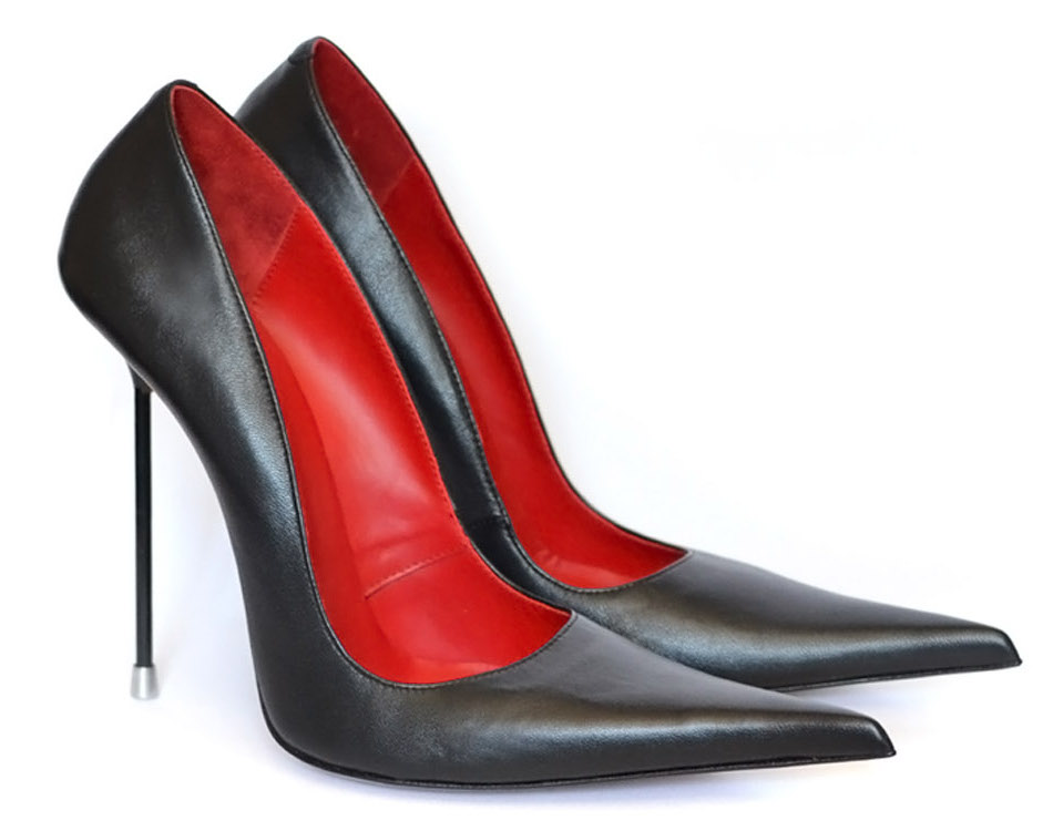 черные лодочки, черные туфли на шпильке