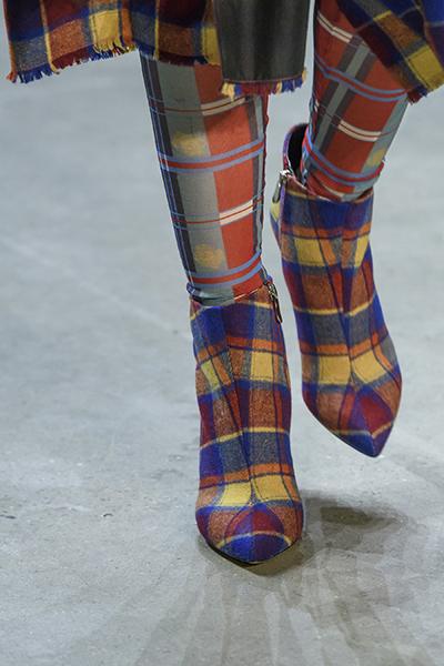 ботинки с шотландской расцветкой от Vivienne Tam