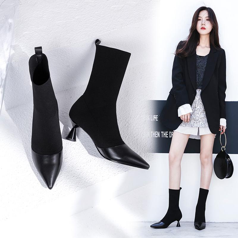 черные сапоги носки Chiko Bede без застежки