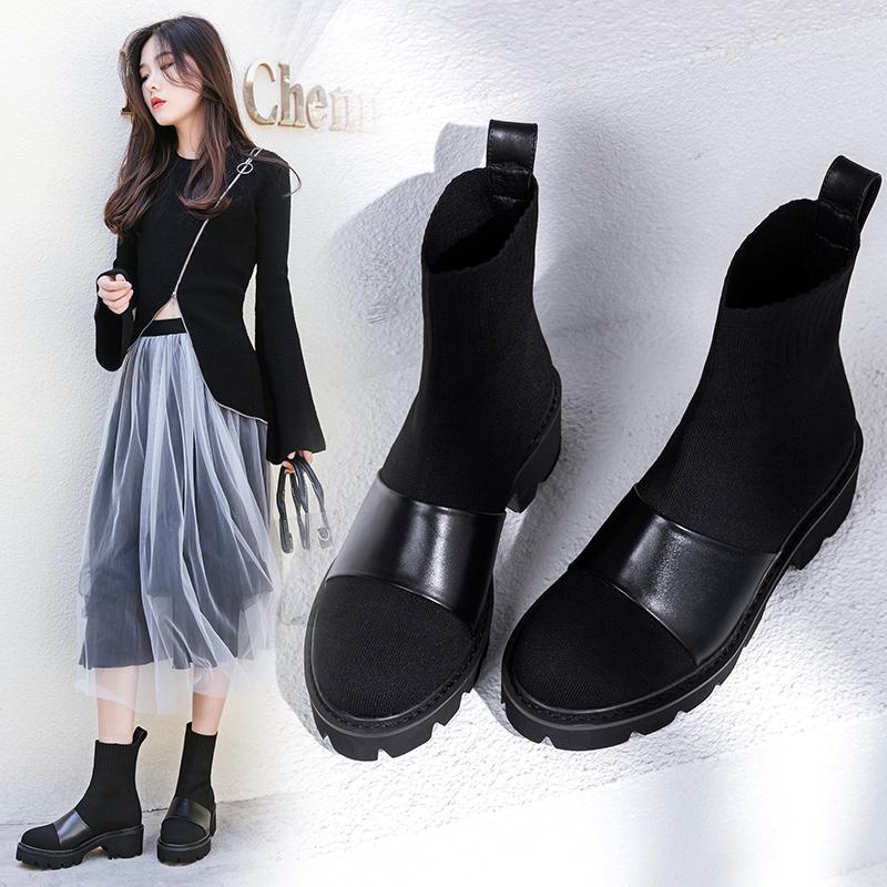 черные сапоги носки Beck без застежек