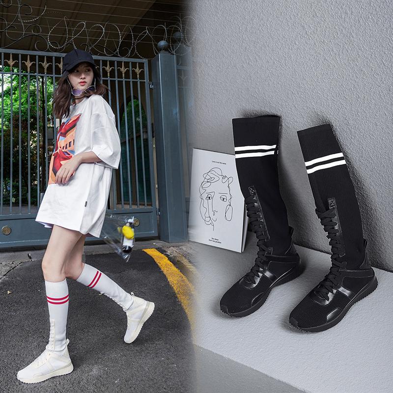 Высокие кроссовки носки Audreanne