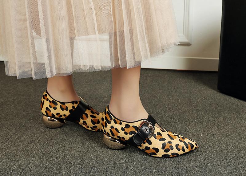 туфли с животным принтом