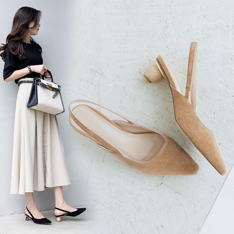 Сочетайте широкие брюки с туфлями-лодочками Chiko Ashely на разной низкой шпилькой