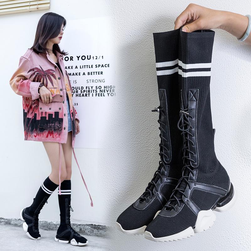 Ботинки в виде кроссовок носков CHIKO BOOKER на комбинированной подошве