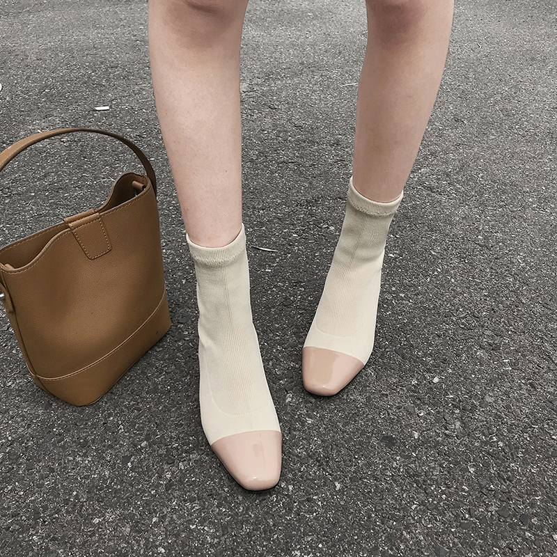 бежевые ботинки носки BAILIE без застежек