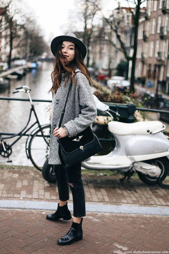 Черные ботинки Chelsea в уличном стиле